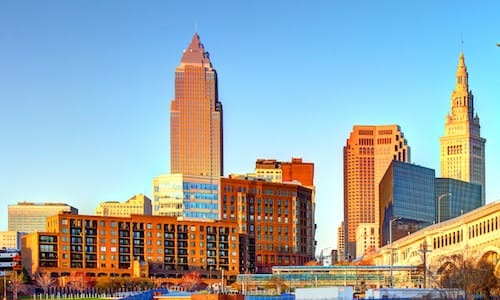 nearby city of cleveland